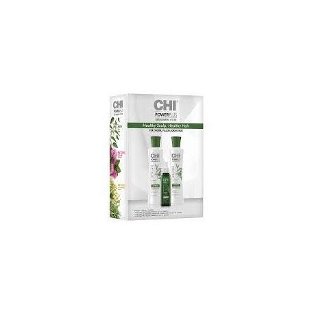CHI Power Plus Rinkinys nuo plaukų slinkimo (šampūnas, kondicionierius, galvos odos purškiklis su vitaminais)