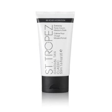 St. Tropez Gradual Tan Classic Face Cream medium/dark Laipsniškas įdegio kremas veidui vidutinio/tamsaus atspalvio 50ml
