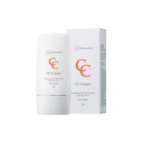 DERMAHEAL CC kremas SPF30 tamsesnis atspindys, 50 g