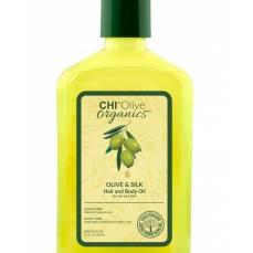 CHI Olive Organics aliejus plaukams ir kūnui, 251 ml