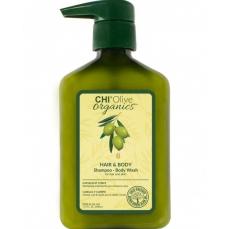 CHI Olive Organics šampūnas ir kūno prausiklis, 340 ml