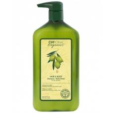 CHI Olive Organics šampūnas ir kūno prausiklis, 710 ml