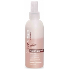 Dvifazis kondicionierius plaukams Ice Cream Keratin Bi-Phase Conditioner su keratinu, 200 ml
