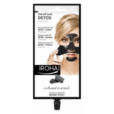 Detoksikuojanti veido kaukė IROHA Black Peel Off Detox Mask Charcoal su anglimi, nuplėšiama