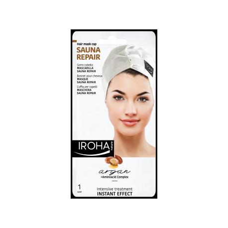 IROHA kaukė/kepurėlė plaukams su Argano aliejumi vienkartinė