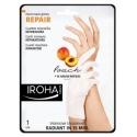Kaukė rankoms Iroha Regenerating Peach Hand & Nail Gloves su persikais, 1 pora pirštinių