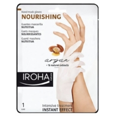 Profesionali kaukė rankoms Iroha Professional Xtra Soft Dry Hands Argan Hand & Nails Gloves I su argano aliejumi, 1 pora