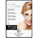 Paakių kaukė Iroha Divine Collection Foil Tissue Patches Extra Glowing su platina, hialiurono rūgštimi ir vitaminu C, 2 vnt.