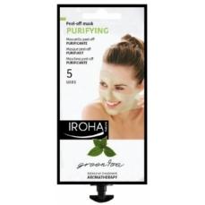 Valanti veido kaukė Iroha Relax Day Green Tea Facial Mask su žaliąja arbata ir ginkmedžio lapais, 25 ml