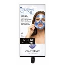 Veido kaukė Iroha Talisman Collection Peel-off Mask Blue Anti-Blemish nuplėšiama, 4 kartams, skaistina veido odą