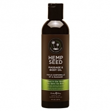 Hemp Seed masažinis kūno aliejus Naked in the Woods, 237 ml.