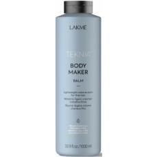 Apimties plaukams suteikiantis balzamas Lakme Teknia Body Maker Balm ploniems ir silpniems plaukams, 1000 ml