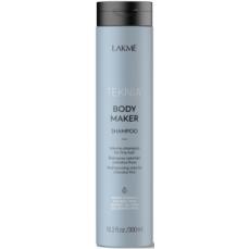 Apimties plaukams suteikiantis šampūnas Lakme Teknia Body Maker Shampoo ploniems ir silpniems plaukams, 300 ml