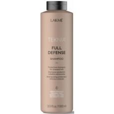 Apsauginis šampūnas plaukams Lakme Teknia Full Defense Shampoo žalingo aplinkos poveikio paveiktiems plaukams, 1000 ml