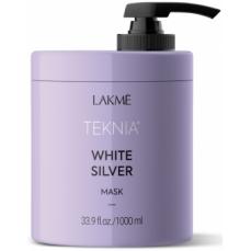Geltoną atspalvį neutralizuojanti kaukė plaukams Lakme Teknia White Silver Mask 1000 ml