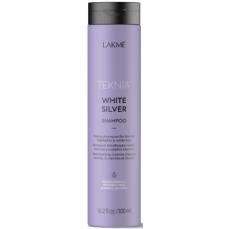 Geltoną atspalvį neutralizuojantis šampūnas plaukams Lakme Teknia White Silver Shampoo 300 ml