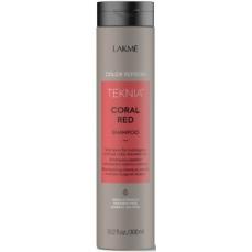 Raudoną spalvą paryškinantis šampūnas Lakme Teknia Coral Red Shampoo 300 ml