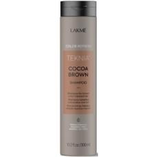 Rudą spalvą paryškinantis šampūnas Lakme Teknia Cocoa Brown Shampoo 300 ml