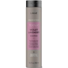 Violetinę spalvą paryškinantis šampūnas Lakme Teknia Violet Levender Shampoo 300 ml