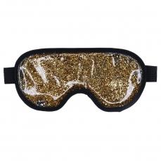 Šildanti/šaldanti akių kaukė - miego akiniai beOSOM Hot & Cold Glitter Eye Mask Golden PAK01, auksinė