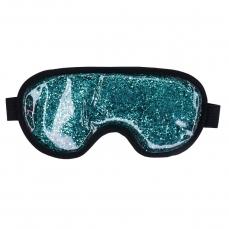 Šildanti/šaldanti akių kaukė - miego akiniai beOSOM Hot & Cold Glitter Eye Mask Blue mėlyna