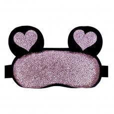 Šildanti/šaldanti akių kaukė - miego akiniai beOSOM Hot & Cold Eye Mask blizganti, su ausytėmis