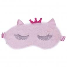 Šildanti/šaldanti akių kaukė - miego akiniai beOSOM Hot & Cold Eye Mask rožinė, su kailiuku