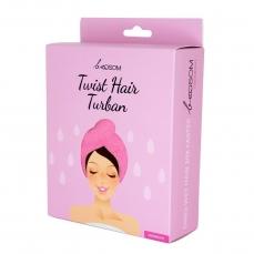Turbanas plaukams beOSOM Twist Hair Turban rausvos spalvos