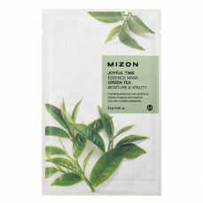 Veido kaukė Mizon Joyful Time Essence Mask Green Tea su žaliąja arbata, 23 g