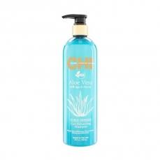 CHI Aloe Vera Išryškinantis garbanas šampūnas 739ml su alavijais ir agavų sultimis