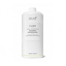 Keune CARE šampūnas sausiems, pažeistiems plaukams VITAL NUTRITION 1000ml