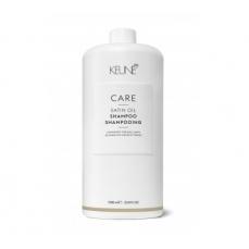 Keune CARE šampūnas sausiems, porėtiems plaukams SATIN OIL 1000ml