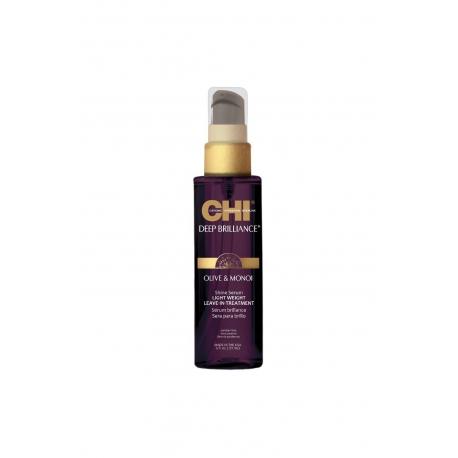 CHI Deep Brilliance nenuskalaujamas plaukų serumas su alyvugių ir Monoi aliejais 15ml