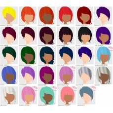 Crazy Color pusiau ilgalaikiai Plaukų dažai , 100 ml