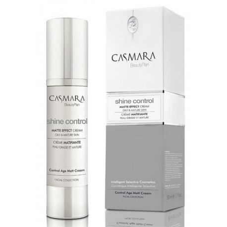 Casmara Shine Control Matte Effect Cream /Matinį efektą odai suteikiantis veido odos kremas, 50 ml